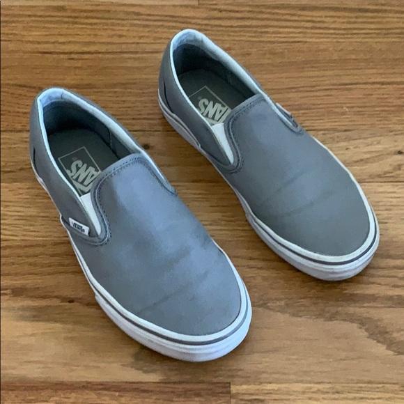 Vans Shoes | Light Grey Classic Slip
